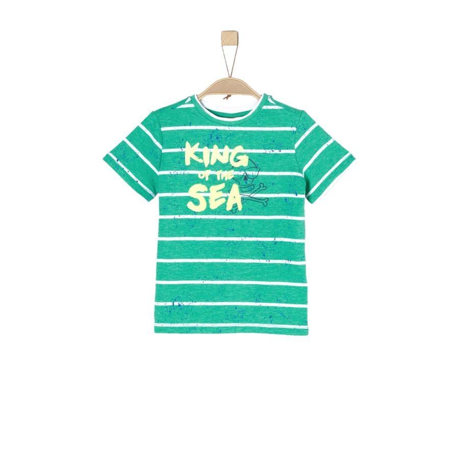 s.Oliver Boys T-Shirt franjas verdes