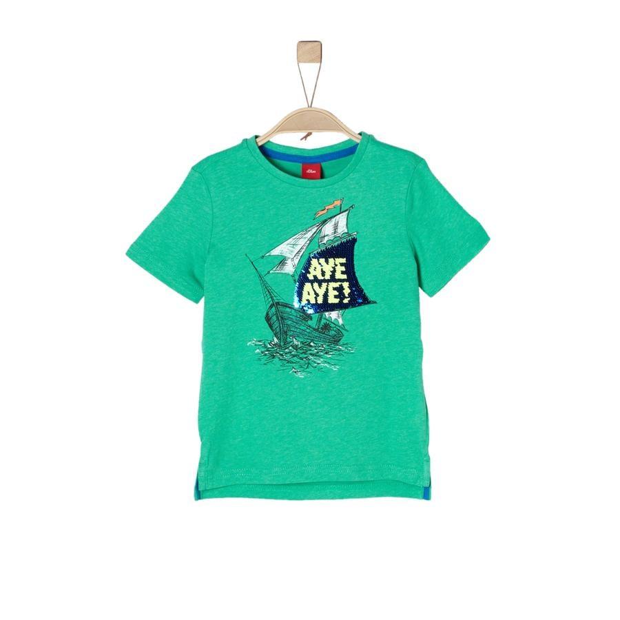 s.Oliver Boys T-Shirt verde mélange