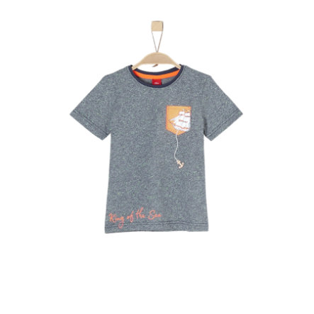 s.Oliver Boys T-Shirt dark blue melange