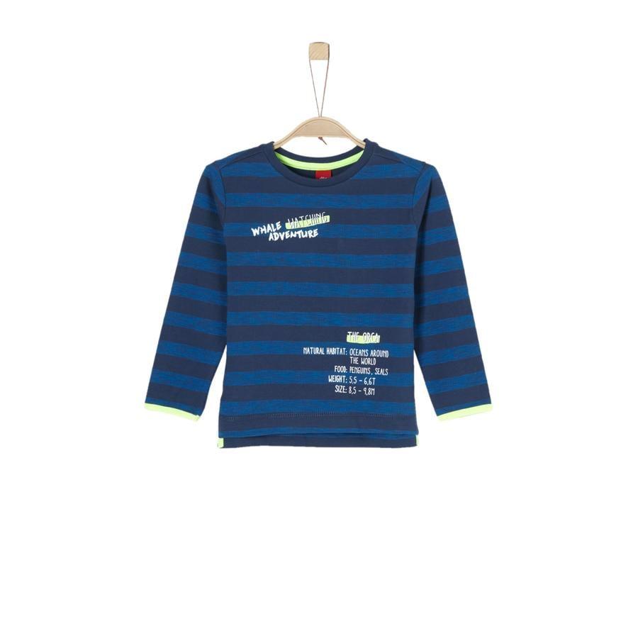 s.Oliver Boys Sweat-shirt à rayures bleu foncé
