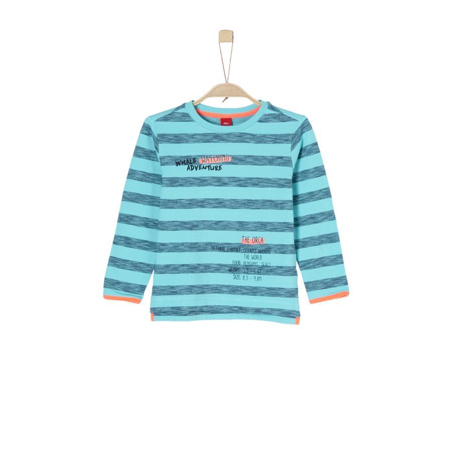 s.Oliver Boys Bluza bluza z turkusowymi paskami.
