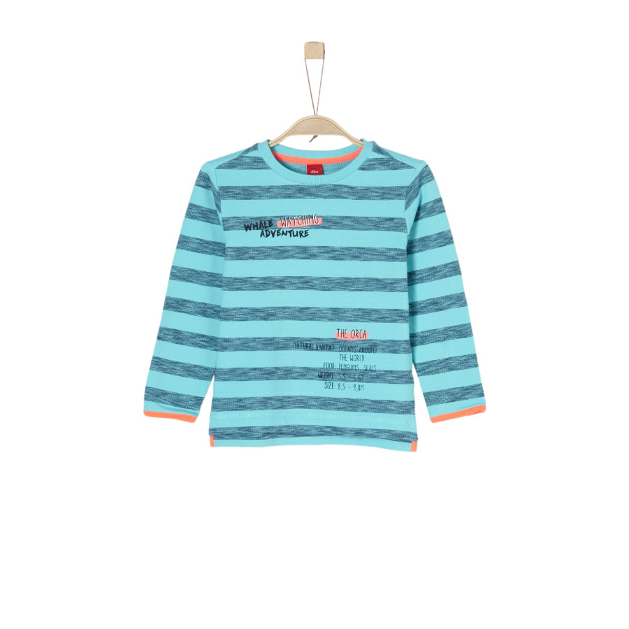 s.Oliver Boys Sweat-shirt à rayures turquoises
