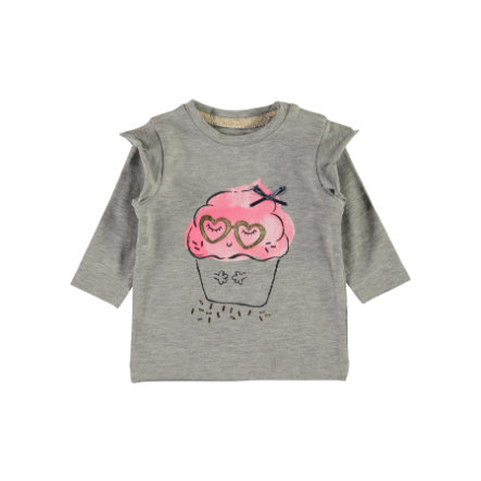 name it Girl s Camisa de manga larga Nbfermusa gris mélange