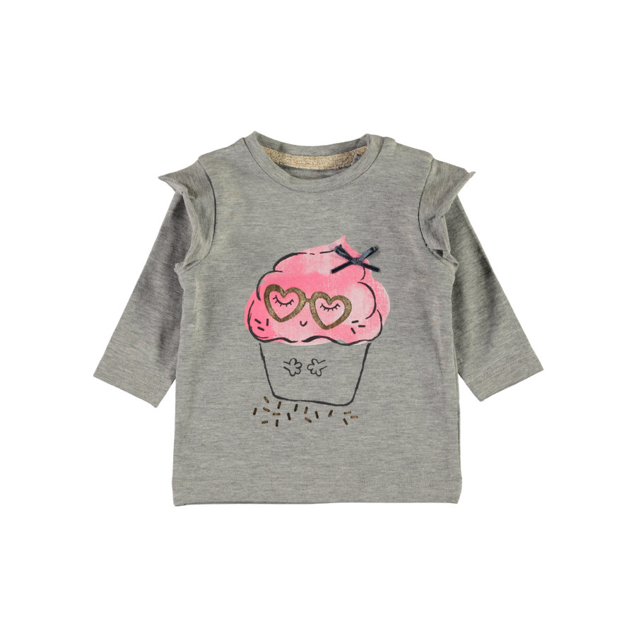 name it Girls Langarmshirt Nbfermusa grey melange