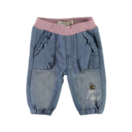 name it Girls Jeans Mababra medium blue denim