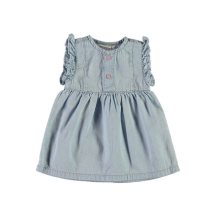 name it Girls Kleid light blue denim
