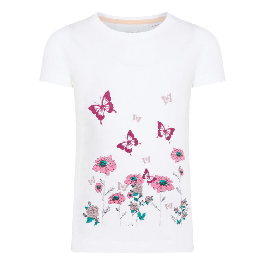 name it Girls T-Shirt Nmfvix bright white
