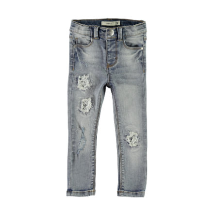 NAME IT Girls Spodnie Jeans Nmfpolly medium blue denim