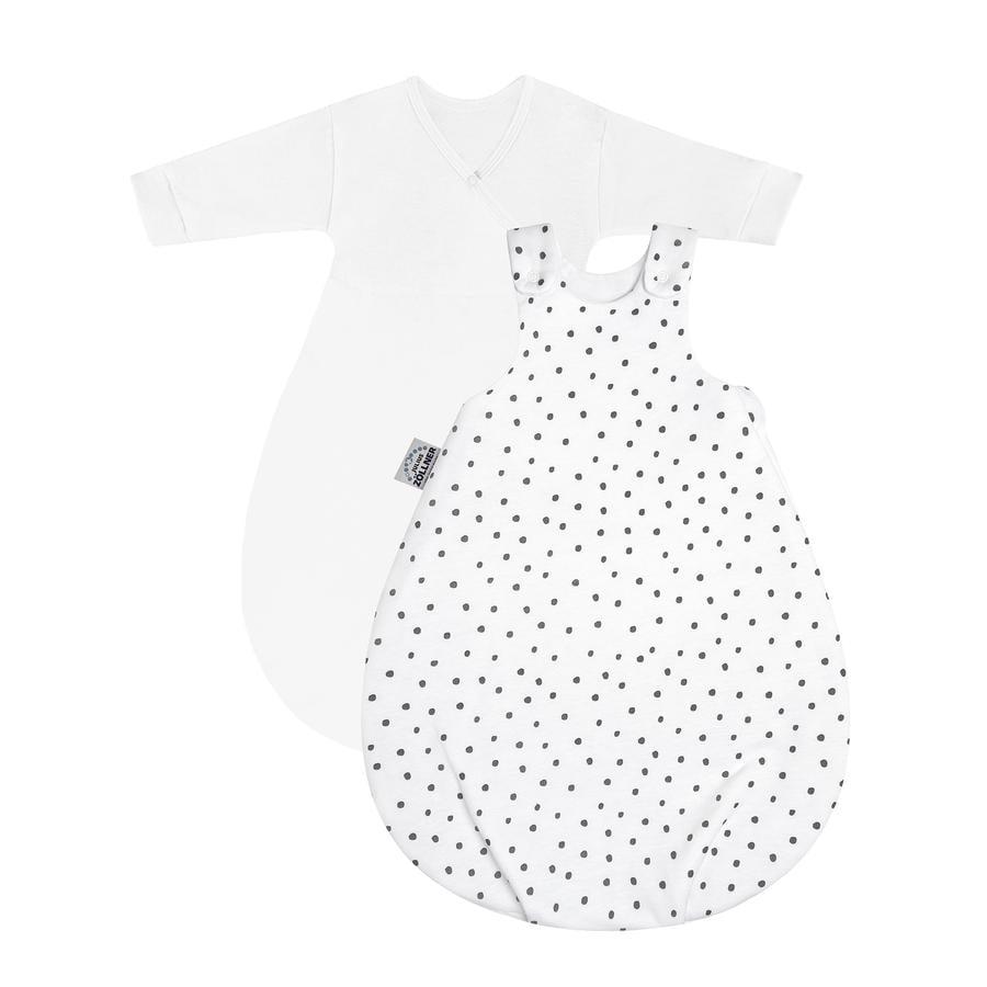 JULIUS ZÖLLNER Babyschlafsack Cosy Dots grau