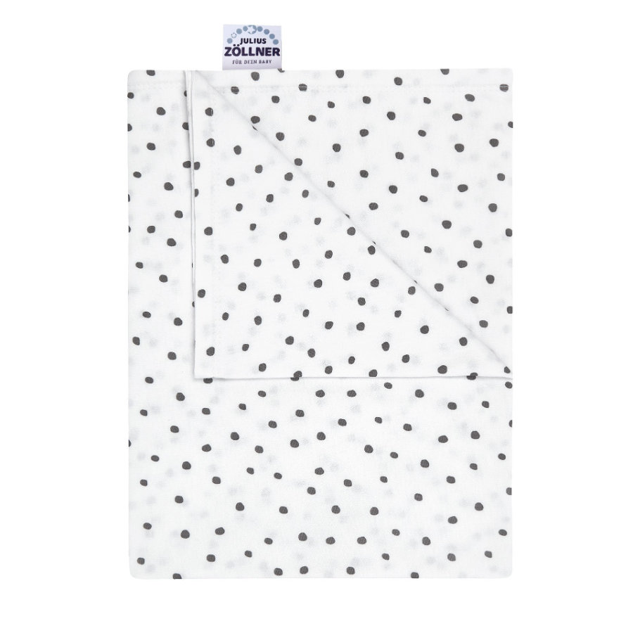 JULIUS ZÖLLNER Copertina in jersey Dots grey 70x70 cm