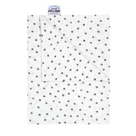 JULIUS ZÖLLNER Jerseydecke Dots grau 120 x 120 cm