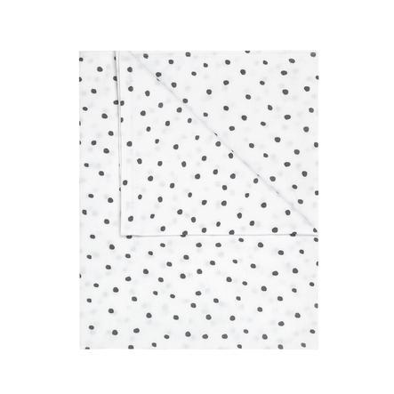 JULIUS ZÖLLNER Jerseydecke gefüttert Dots grau 70 x 100 cm