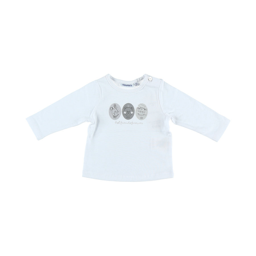 noukie's Longsleeve shirt Cocon wit