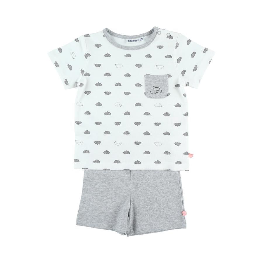 noukie Boys 's pyjama 2 stuks 2 stuks wit