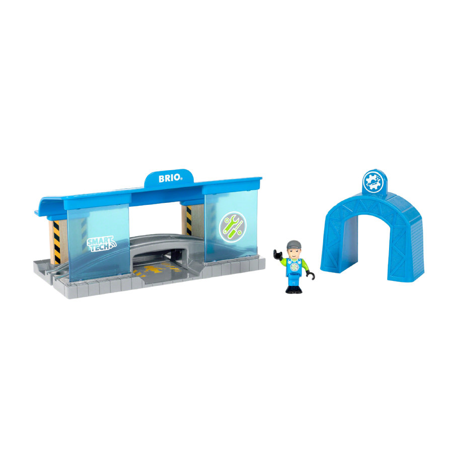 BRIO® WORLD Smart Tech Železniční dílna 33918