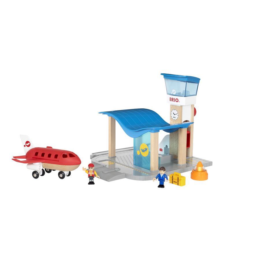 BRIO® WORLD Jouet terminal aéroport, tour de contrôle 33883