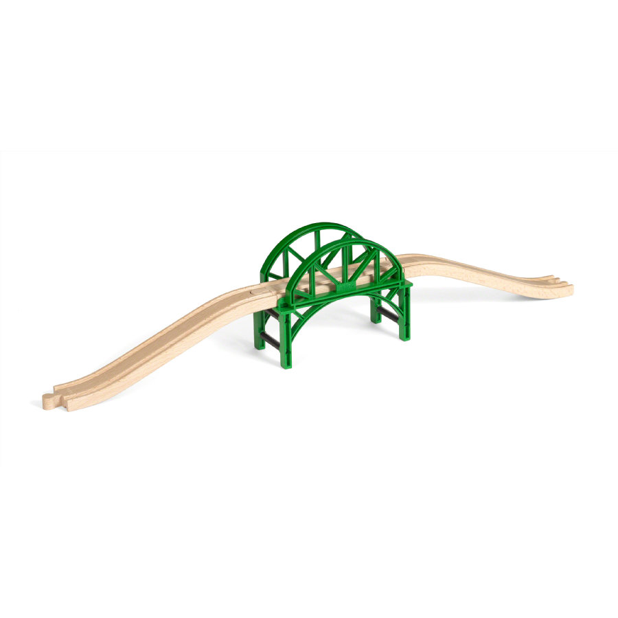 BRIO® WORLD Pont de train empilable à rails bois 33885