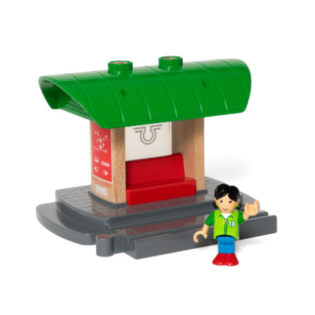 BRIO® WORLD togstation med lydoptager 33840