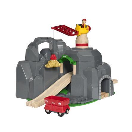 BRIO® WORLD Bergstunnel med lyftkran 33889