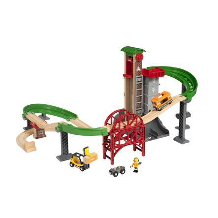 BRIO® WORLD Großes Lagerhaus-Set mit Aufzug 33887