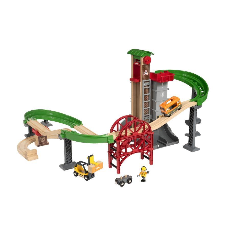 BRIO® WORLD Ampio set di magazzini con ascensore 33887