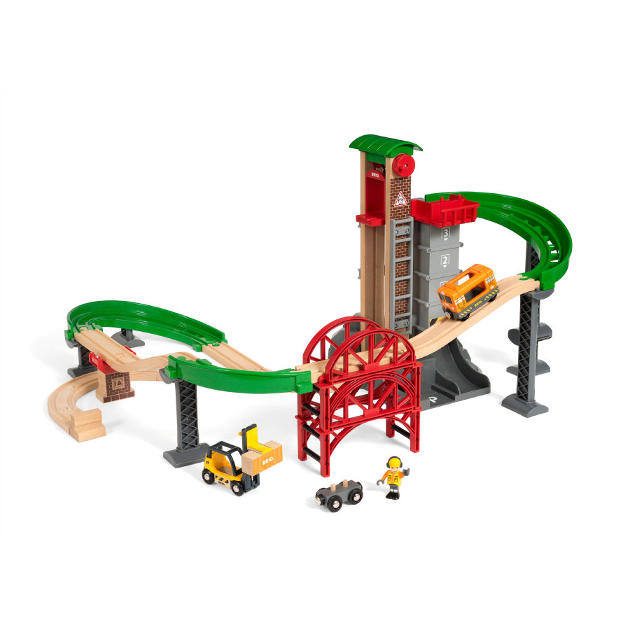 BRIO® WORLD Magazijn-set met lift 33887