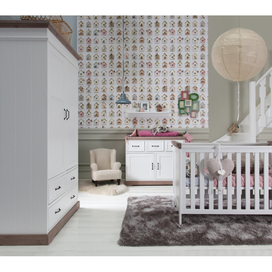 KIDSMILL Kinderzimmer Savona grau 3-türig