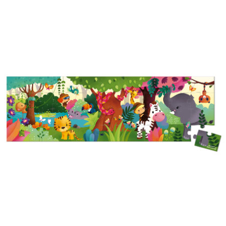 Janod® Puzzelkoffer - Panorama-Puzzel, Jungle