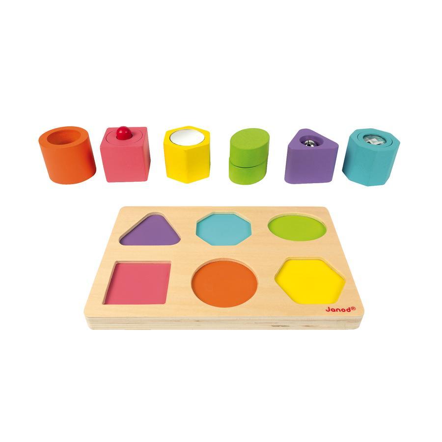 Janod® Holz-Sortierspiel Formen und Bausteine -