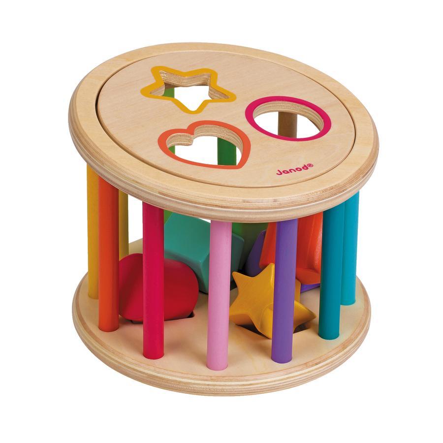 Janod® Holz-Sortierspiel Rolltrommel
