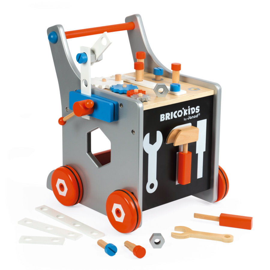 Janod® BRICO'KIDS verktøyvogn, stor