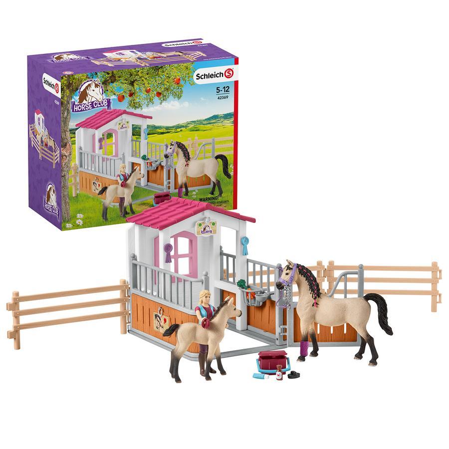 Schleich Hästbox med arabhästar och hästskötare 42369