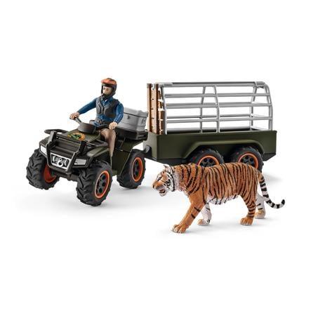 Schleich Figurine quad avec remorque et ranger 42351