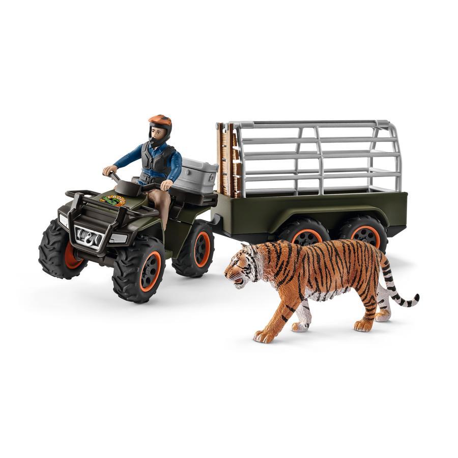 Schleich Wild Life - Quad met aanhangwagen en ranger 42351