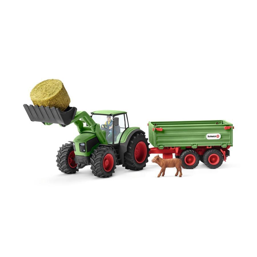 Schleich Figurine tracteur et remorque 42379