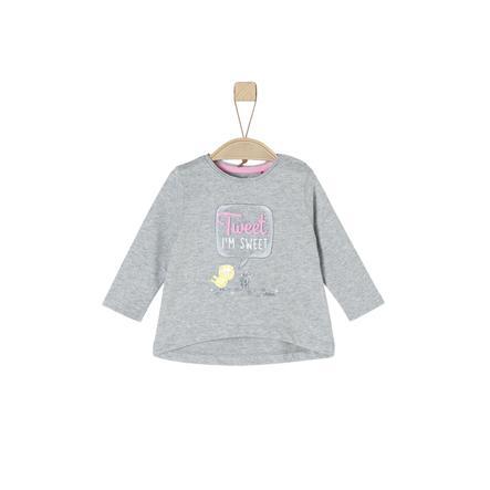 s. Olive r Girls Košile s dlouhým rukávem light šedá melanžová