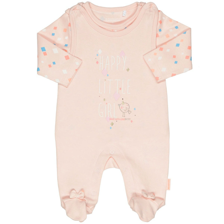 STACCATO Girls Strampler Set rosa