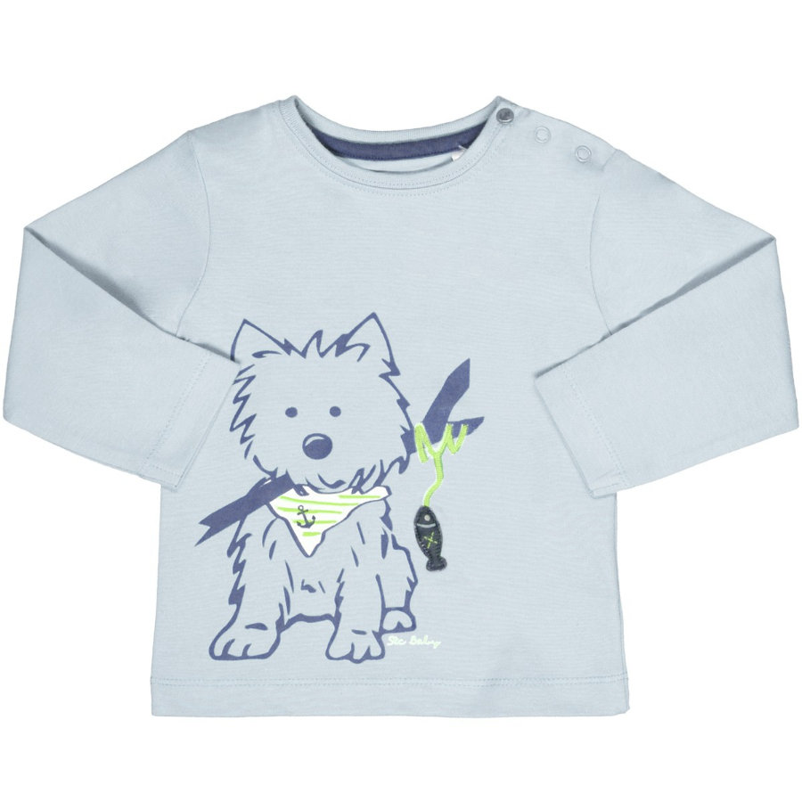 STACCATO Boys Chemise manches longues chien bleu