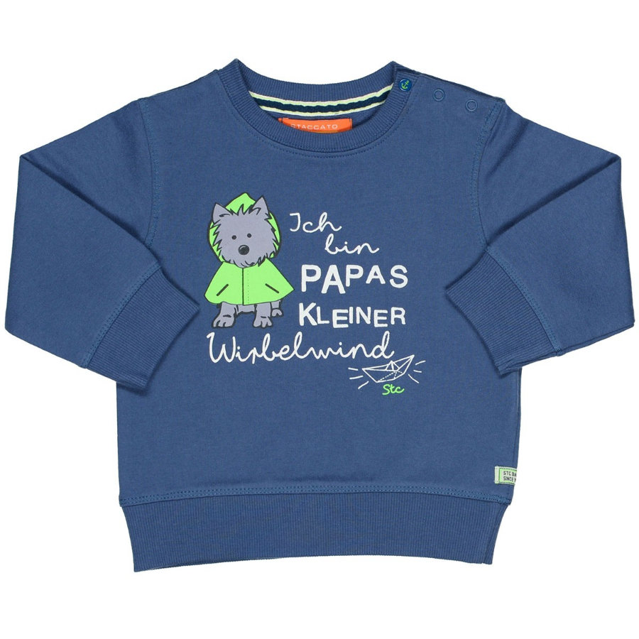 STACCATO Boys Sweat-shirt chien bleu clair
