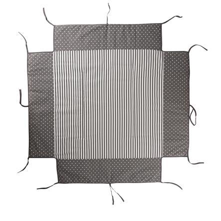 Geuther-sänky sopii leikkikehään 97 x 97 cm harmaita pisteitä