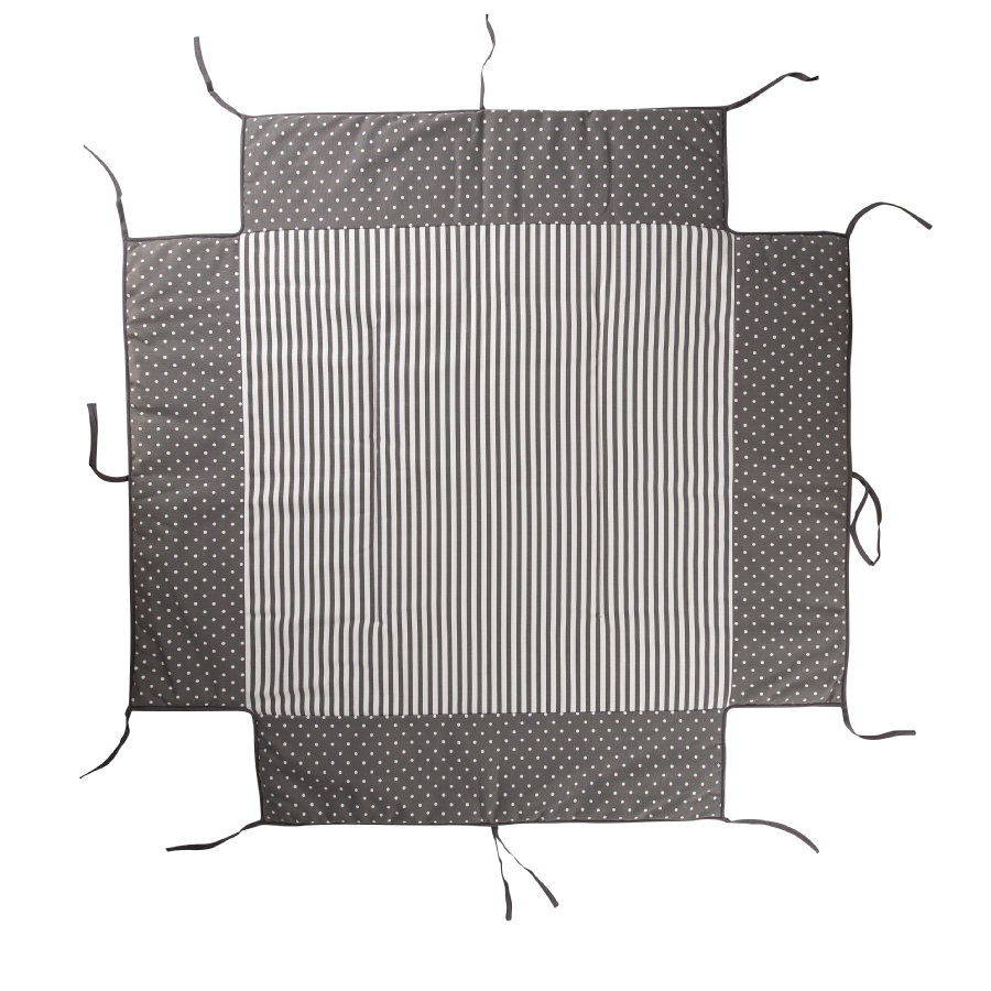 Geuther Boxkleed passend voor box  97 x 97 cm 154 Grey dots