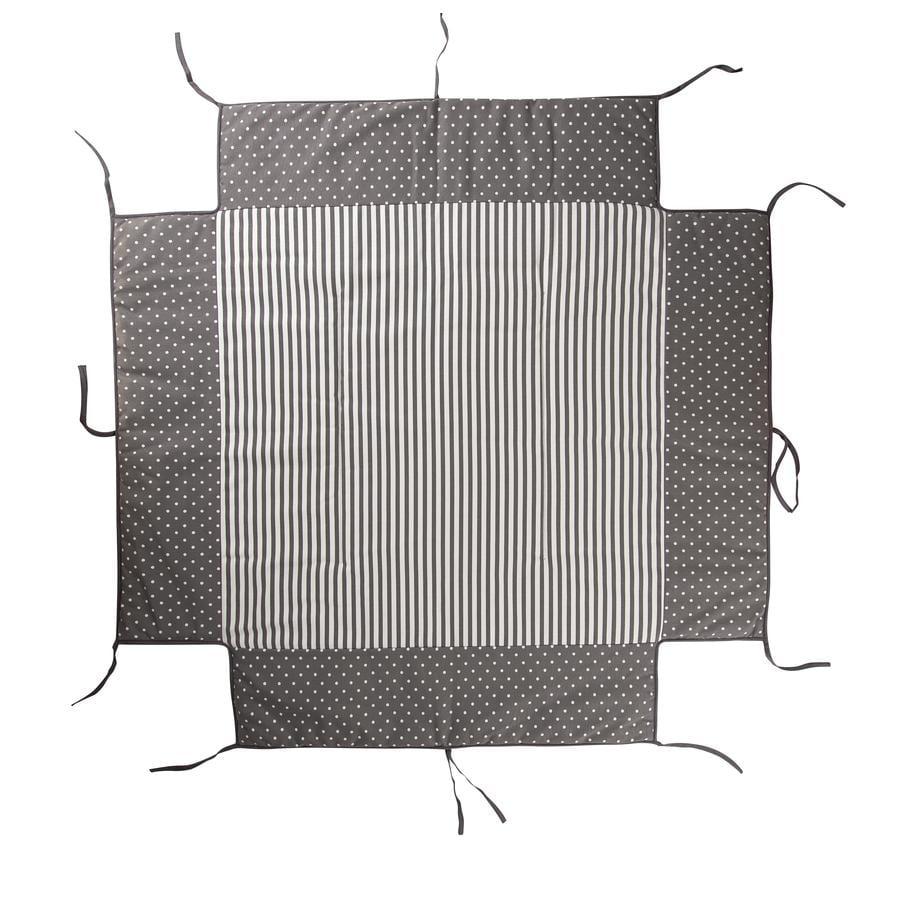 Geuther Colchoneta para parque 97 x 97 cm 154 círculos grises