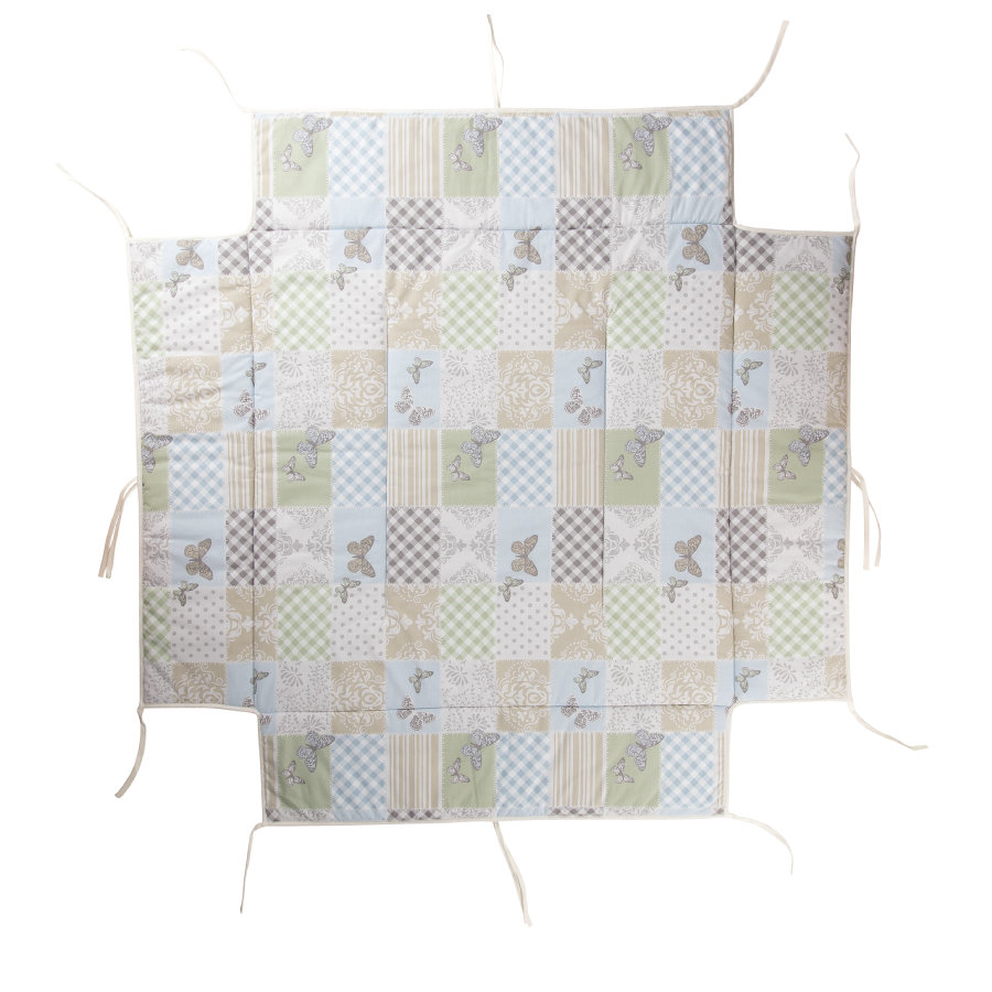 Geuther Materassino con paracolpi per box 97 x 97 cm Patchwork