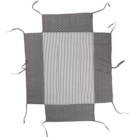 Geuther Bed egnet for lekegrind 76 x 97 cm grå prikker