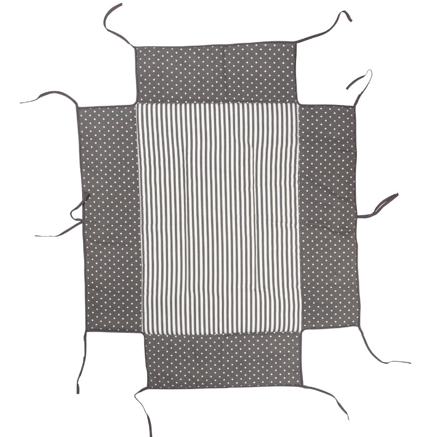 Geuther Boxkleed passend voor box  76 x 97 cm 154 Grey dots