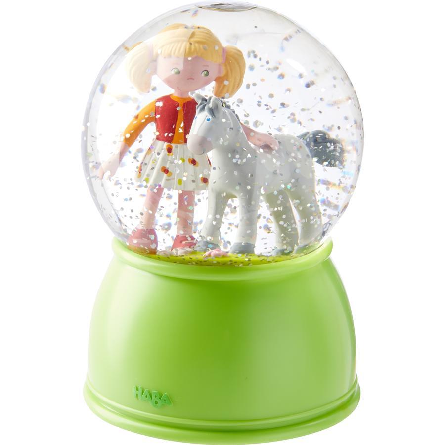 HABA LED-Schlummerlicht-Schneekugel Pferdeglück 303518