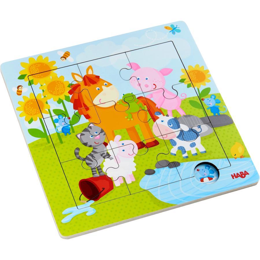 HABA Holzrahmen-Puzzle Tierfreunde 303767