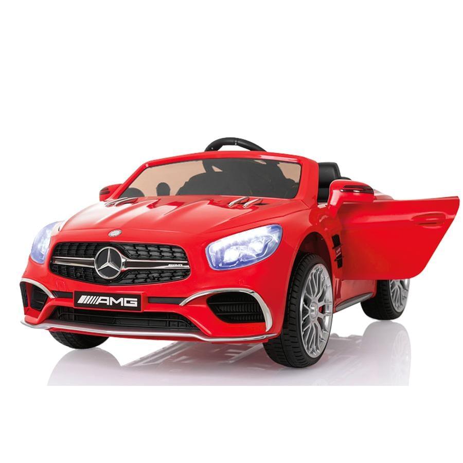 JAMARA Voiture radiocommandée Kids Ride-on Mercedes SL65 rouge 12V