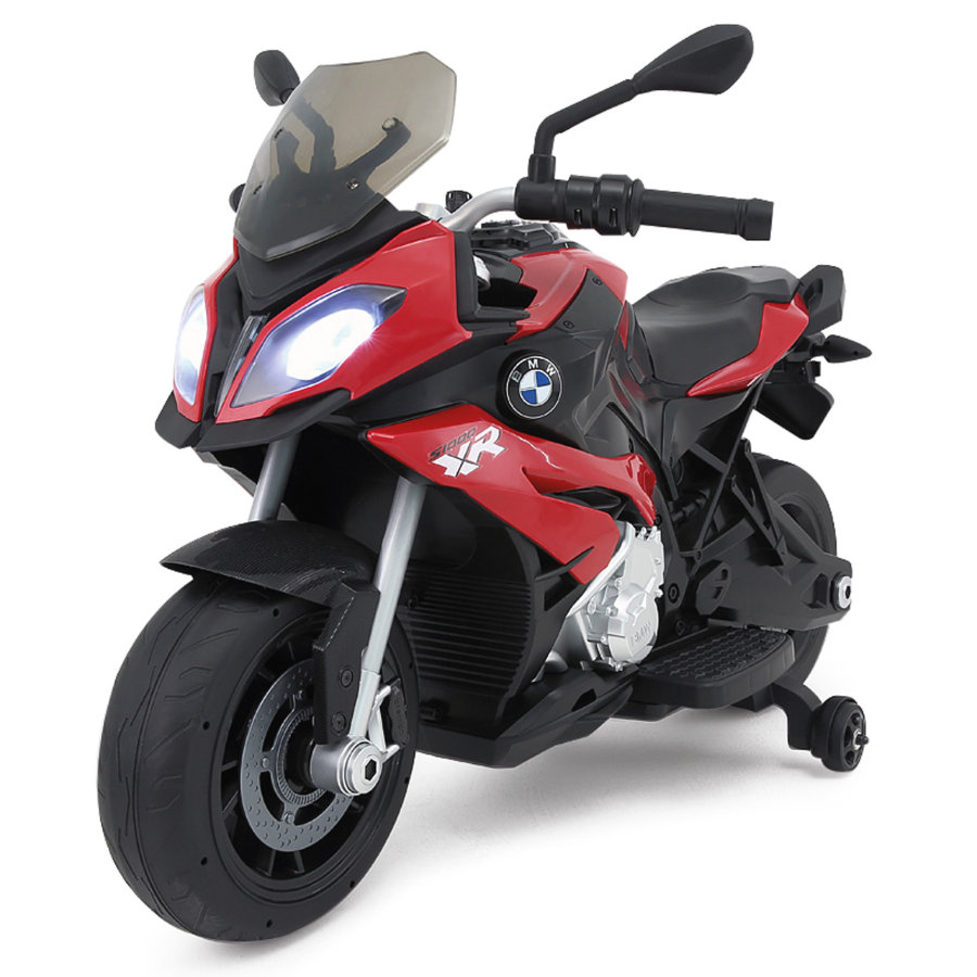 JAMARA Moto électrique enfant Ride-on moto BMW S1000XR rouge