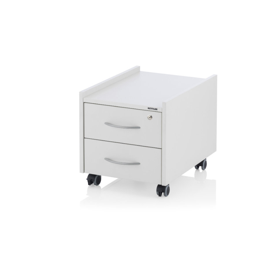 KETTLER Rollcontainer SIT ON LOCKED, Weiss
